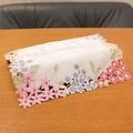 【再入荷】彩り豊かな花刺繍 花環シリーズ ティッシュカバー
