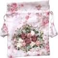 ローズブーケ 刺繍巾着 <薔薇・ローズ>