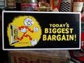 レディキロワット MDFボードサイン / TODAY'S BIGGEST BARGAIN!