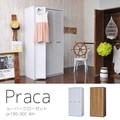 【送料無料】Praca(プラカ)ルーバークローゼット(90cm幅)WH/BR