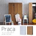 【送料無料】Praca(プラカ)ルーバークローゼット(120cm幅)WH/BR