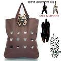 サビィ&ルポワン プリントバッグ【鞄】【ねこ】【かわいい】