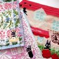 【魔女の宅急便】キュートなジジのタオル♪ミニタオル(ジジの贈り物、ジジの花かご、フラワーメゾン)