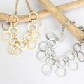 【均一SALE】幾何学デザインのメタルネックレス【2色】