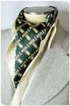 【フォーマル】エレガント袋縫いメンズ用100%シルクスカーフ 1006