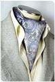 【フォーマル】エレガント袋縫いメンズ用100%シルクスカーフ 1009