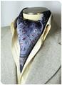 【フォーマル】エレガント袋縫いメンズ用100%シルクスカーフ 1007