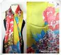 ファンタジー柄★大判薄型100%シルクストール/スカーフ 19861