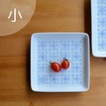 【白山陶器】染付小花 正角皿(小)<波佐見焼>