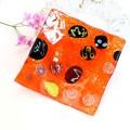 【イタリア】ベネチアンガラスのオレンジの飾り皿