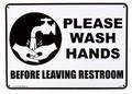 PLASTIC SIGN BOARD(CA-04:手を洗いましょう) / プラスチックサインボード