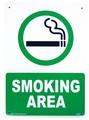PLASTIC SIGN BOARD(CA-24:喫煙エリア) / プラスチックサインボード