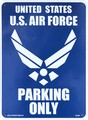 PLASTIC SIGN BOARD(CA-28:米国空軍専用駐車場) / プラスチックサインボード