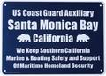 PLASTIC SIGN BOARD(CA-40:サンタモニカベイ) / プラスチックサインボード