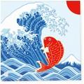 ペーパーナプキン大漁旗 富士山と鯛 インバウンド商品