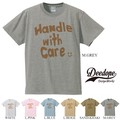 "【DEEDOPE】 ""HANDLE WITH CARE"" 半袖 プリント Tシャツ 綿100% カットソー"