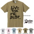 "【DEEDOPE】""LIVE FOR THE BEST"" 半袖 プリント Tシャツ カットソー"