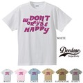 "【DEEDOPE】""DON'T WORRY BE HAPPY"" 半袖 プリント Tシャツ カットソー"