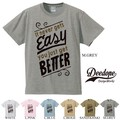 "【DEEDOPE】 ""IT NEVER GETS EASY YOU JUST GET BETTER"" 半袖 プリント Tシャツ"