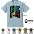 "【DEEDOPE】""HE EM"" 半袖 プリント Tシャツ 綿100% カットソー HE ME BIG LOGO"