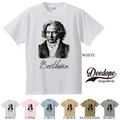 "【DEEDOPE】""BEETHOVEN"" 半袖 プリント Tシャツ 綿100% カットソー ベートーヴェン ベートーベン"