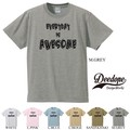 "【DEEDOPE】""EVERYDAY IS AWESOME"" 半袖 プリント Tシャツ"