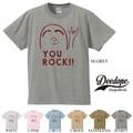 "【DEEDOPE】""YOU ROCK!!"" 半袖 プリント Tシャツ"