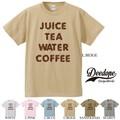 """【DEEDOPE】""""JUICE TEA WATER COFFEE"""" 半袖 プリント Tシャツ"""