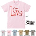 "【DEEDOPE】""LOVE"" 半袖 プリント Tシャツ 綿100% カットソー ラブ ハート"