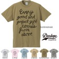 "【DEEDOPE】""EVERY GOOD AND PERFECT GIFT COMES FROM ABORE"" 半袖 プリント Tシャツ"