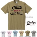 "【DEEDOPE】""BEING SEXY AIN'T EASY"" 半袖 プリント Tシャツ 綿100% カットソー"
