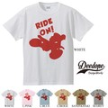 """【DEEDOPE】""""RIDE ON"""" 半袖 プリント Tシャツ 綿100% カットソー バイク"""