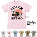 "【DEEDOPE】""RIDE ON LET'S GO"" 半袖 プリント Tシャツ 綿100% カットソー 車 car"