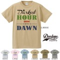 "【DEEDOPE】""DARKEST HOUR IS JUST BEFORE DAWN"" 半袖 プリント Tシャツ"