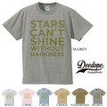 "【DEEDOPE】""STARS CAN'T SHINE WITHOUT DARKNESS"" 半袖 プリント Tシャツ"