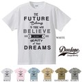 "【DEEDOPE】""FUTURE BELIEVE DREAMS""  半袖 プリント Tシャツ"