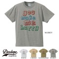 "【DEEDOPE】""YOU MAKE ME HAPPY"" 半袖 プリント Tシャツ"
