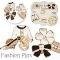 【新作 アクセ】ファッション レディースピンズ 5種 花 フラワー ゴールド 金 プレゼント フラワー