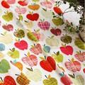 【生地】【布】【コットン】アップルジュース  デザインファブリック★50cm単位でカット販売