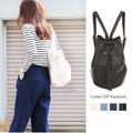 ◆巾着風デザイン。フェイクレザーリュックサック/バッグ◆420208