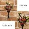 """【SALE】キャストアイアン[フック""""FAMILY""""]"""