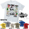 "【DEEDOPE】 ""DELICIOUS"" 半袖 プリント Tシャツ 綿100% カットソー"