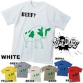 "【DEEDOPE】 ""BEEF?"" 半袖 プリント Tシャツ 綿100% カットソー"