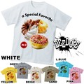 "【DEEDOPE】 ""a SPECIAL FEVARITE II"" 半袖 プリント Tシャツ 綿100% カットソー スイーツドーナツ"