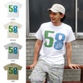 "【DEEDOPE】""58"" 半袖 プリント Tシャツ 綿100% カットソー"