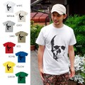 "【DEEDOPE】""REAL SKULL"" 半袖 プリント Tシャツ 綿100% カットソー ドクロ スカル 骸骨"