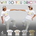 "【DEEDOPE】""WHY DO YOU DANCE"" 半袖 プリント Tシャツ 綿100% カットソー"