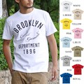 "【DEEDOPE】""BROOKLYN"" 半袖 プリント Tシャツ 綿100% カットソー ブルックリン カレッジ"