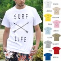 "【DEEDOPE】""SURF X LIFE"" 半袖 プリント Tシャツ 綿100% カットソー"