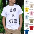 "【DEEDOPE】""WAR IS OVER"" 半袖 プリント Tシャツ 綿100% カットソー 終戦"